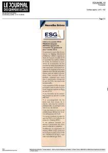 Ecole commerce ESG- Mars2010 - Le journal des grandes ecoles