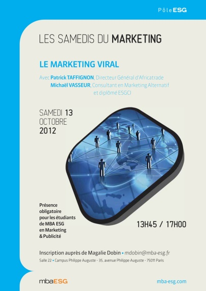 Les Samedis du Marketing sont organisés par le MBA Marketing et Publicité