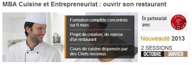 MBA Cuisine et Entrepreneuriat
